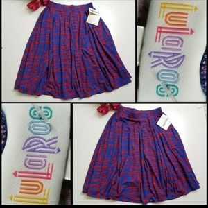 Lularoe Woman Madison Flare Skirt pleated Size XS